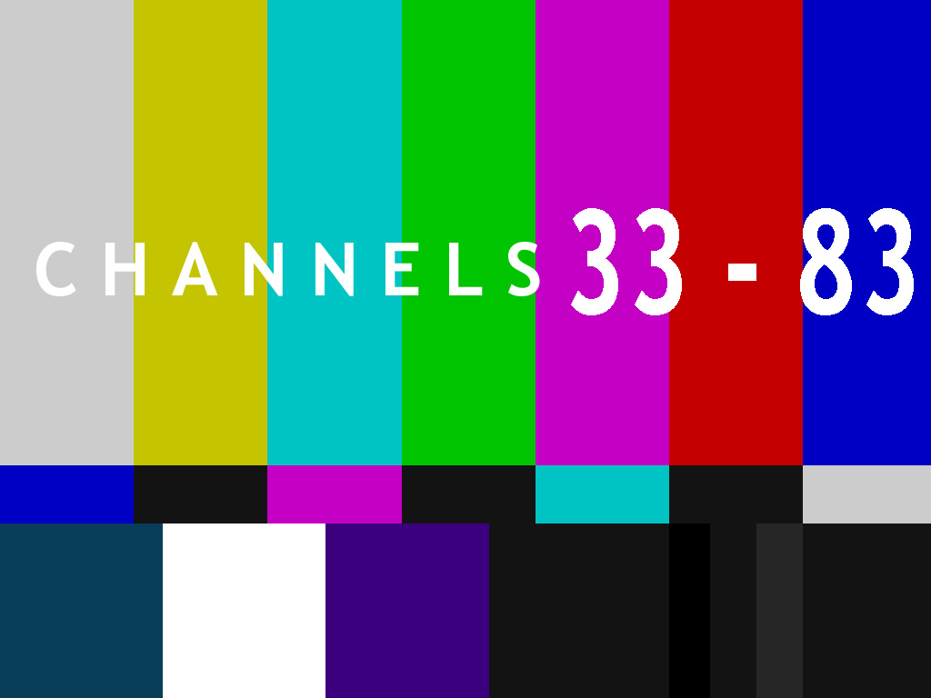 Channels 33-83